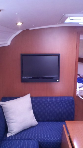 TV installed Beneteau 37