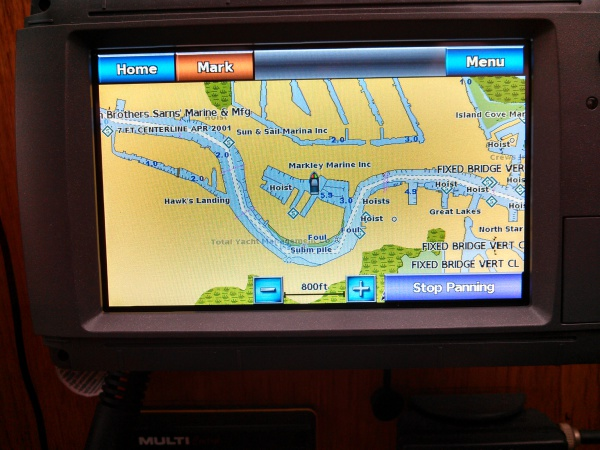 New Garmin chart plotter / repeater at inside helm station